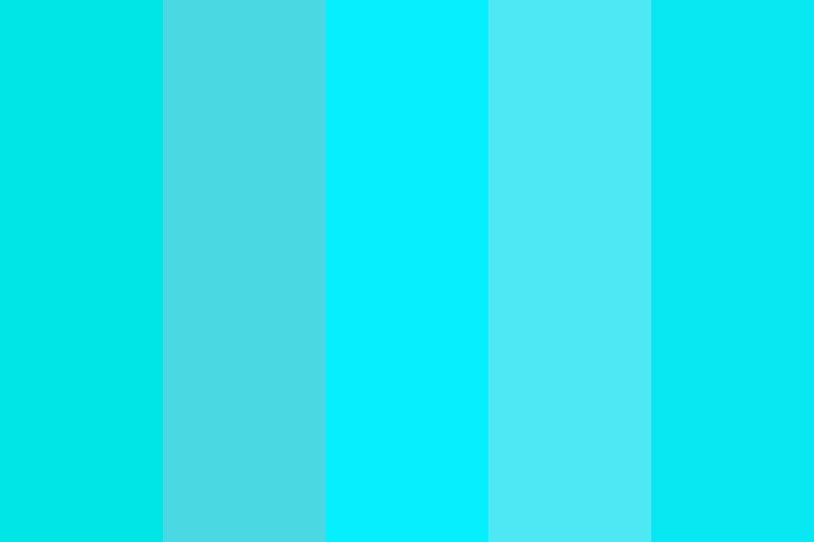 Waters Blue Color Palette