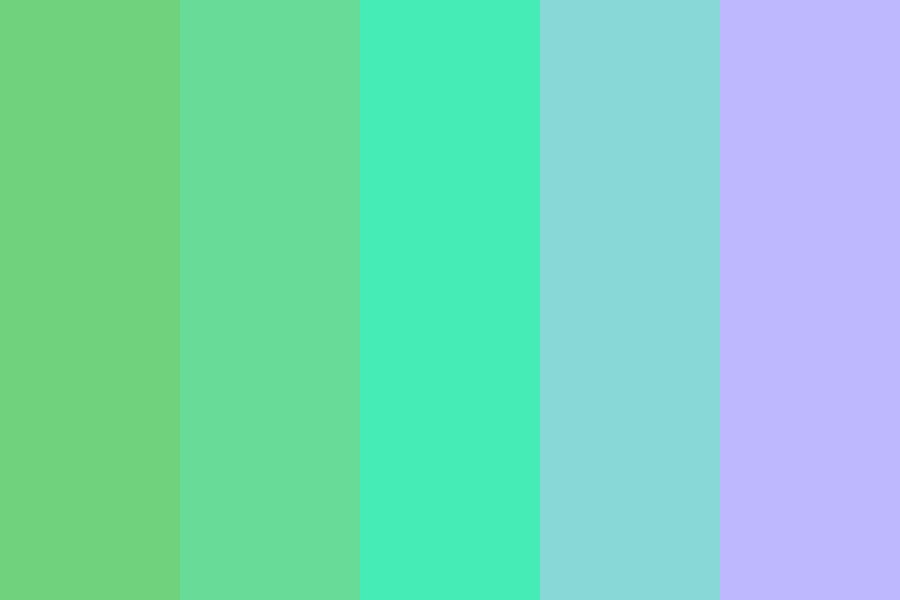 Watery Greens Color Palette