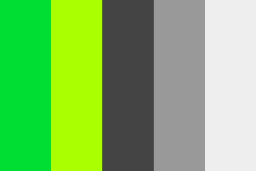 Web Safe Green And Grey Color Palette