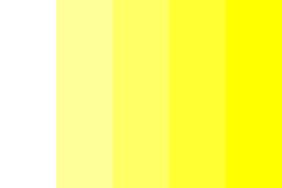 Web safe Shades Of Yellow Color Palette
