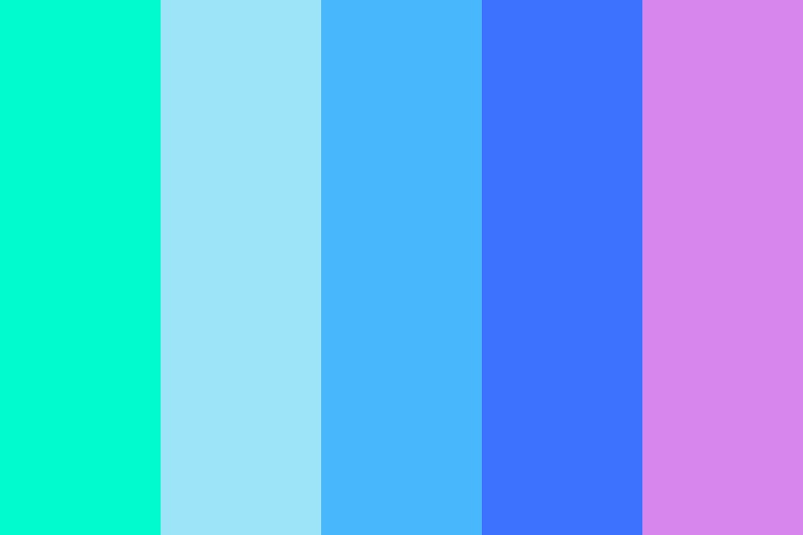 When Blue Got Away Color Palette