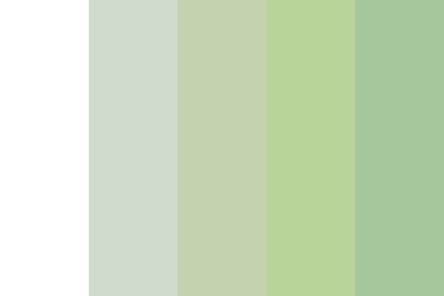 White To Green Testing  Color Palette