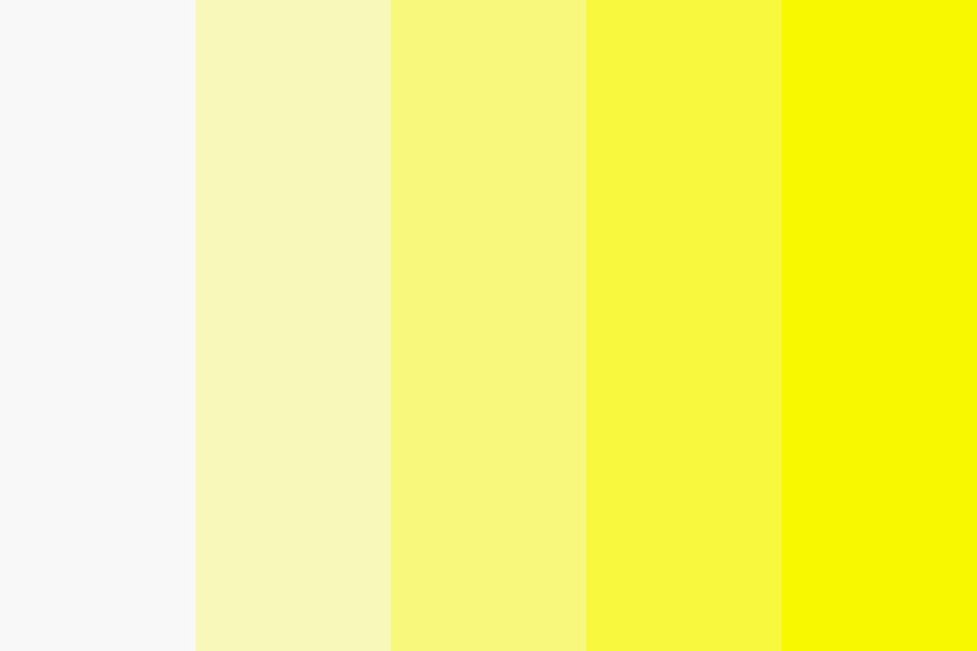 White To Yellow Color Palette