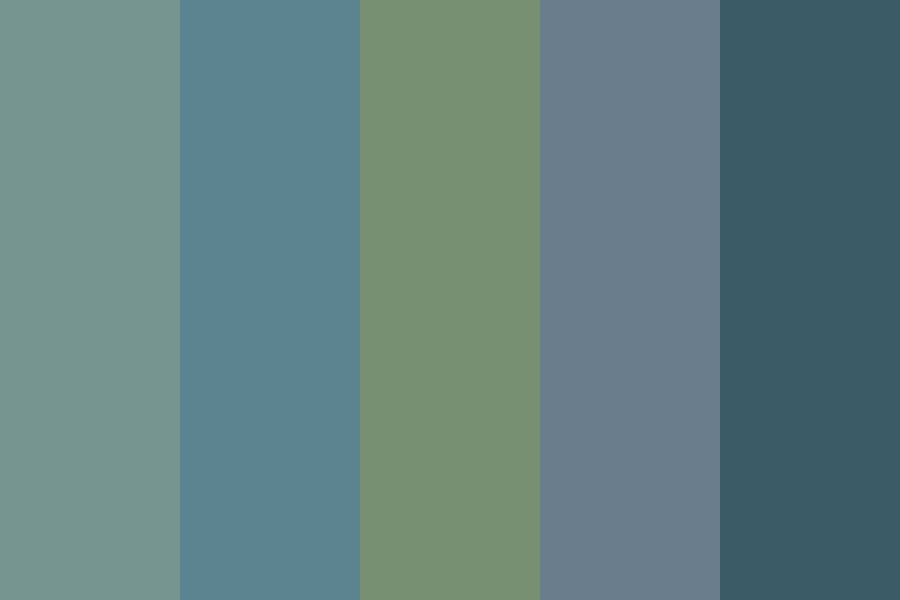 Winter Blues And Greens Color Palette