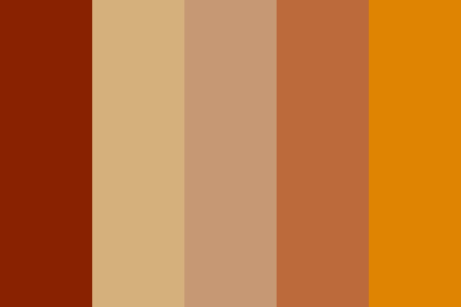 Wood Brown Color Palette