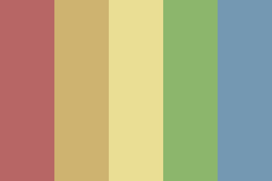 Wood Work Rainbow Color Palette