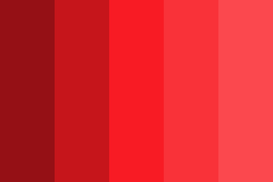 Wtp Reds Color Palette