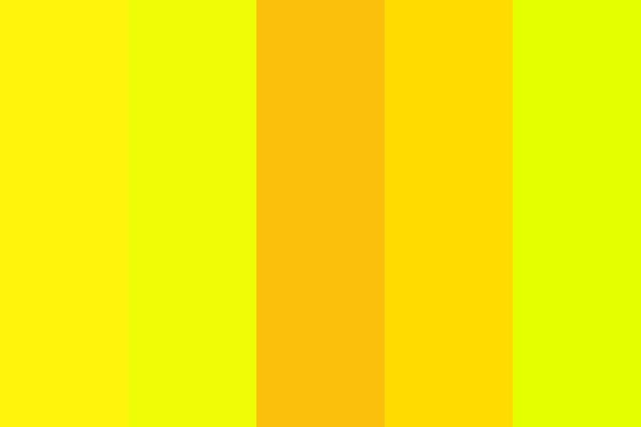 Yearning Yellows Color Palette