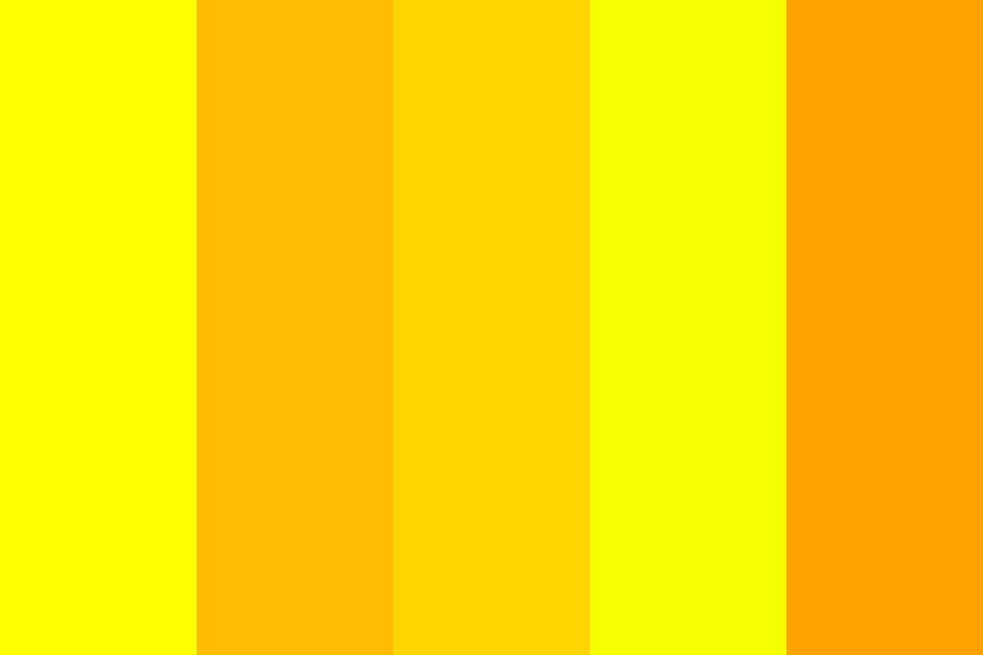 Yelled Yellow Color Palette