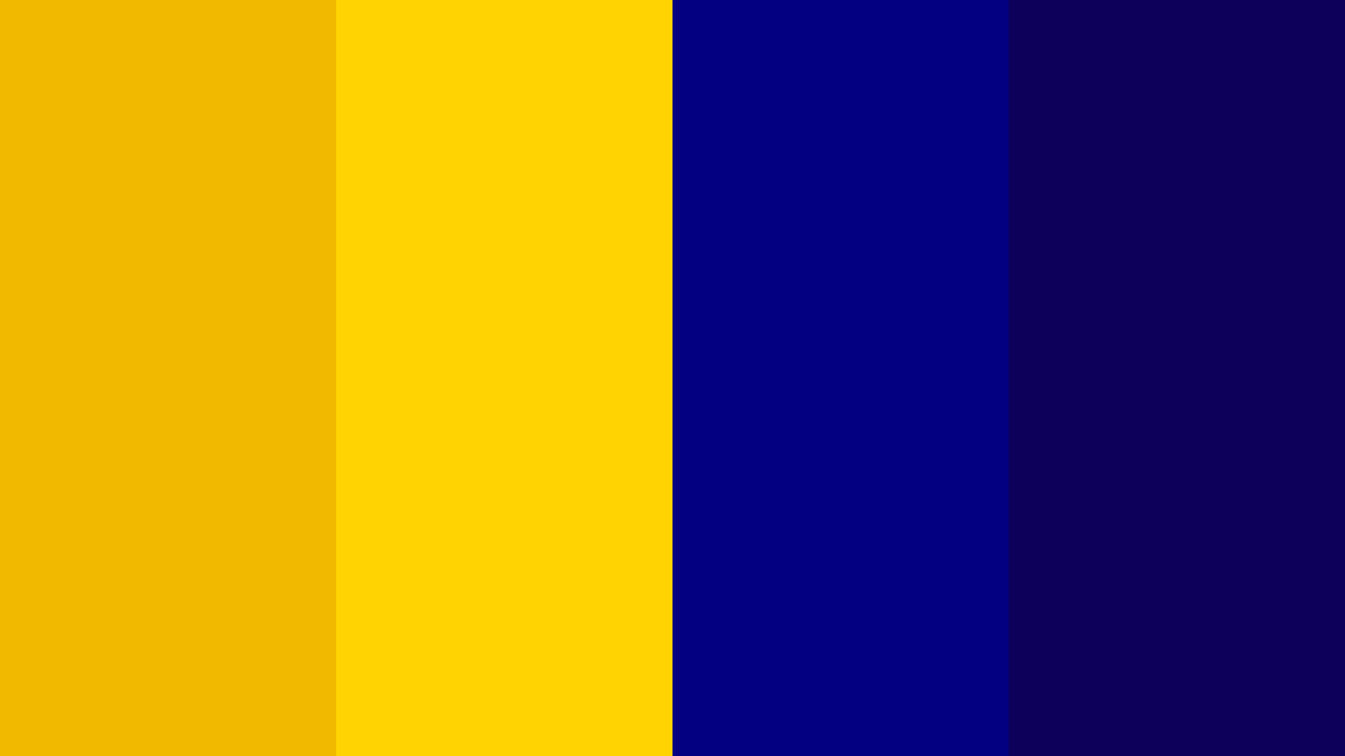 Yellow & Navy Blue Color Palette