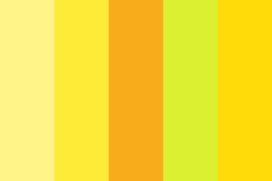Yellow Aesthetic Color Palette
