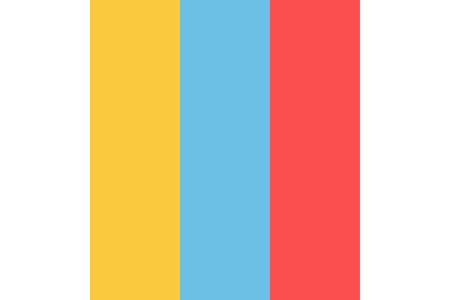 Yellow Blue Red Color Palette