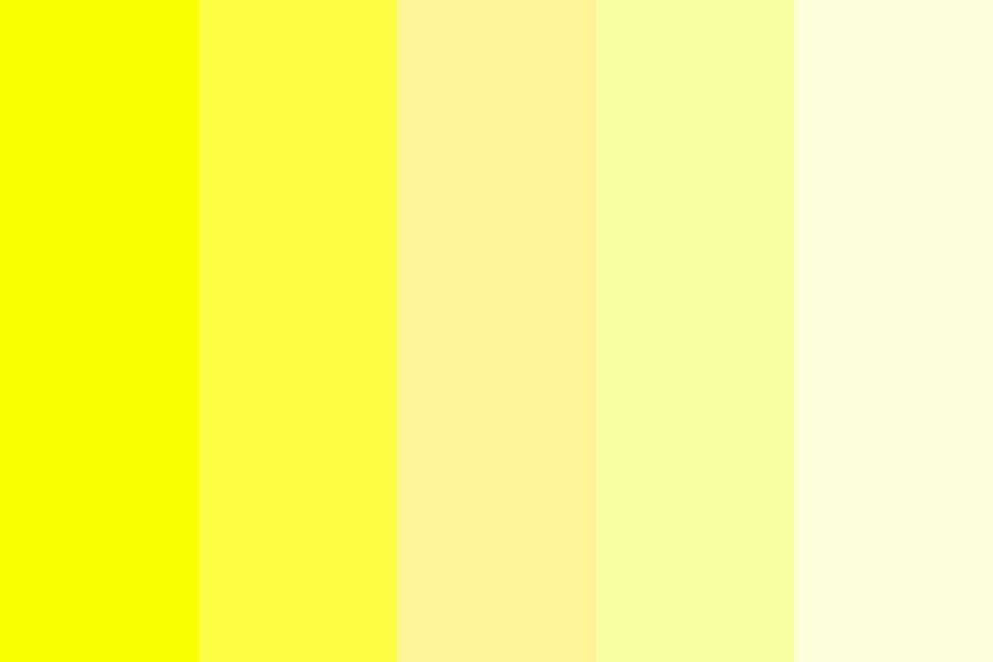Yellow Collection Color Palette