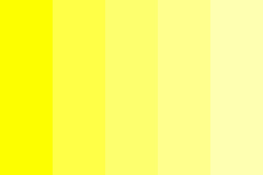 Yellow Fade Color Palette