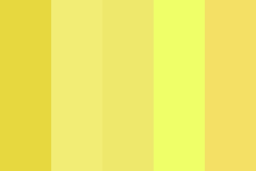 Yellow Is An Underrated Color Color Palette