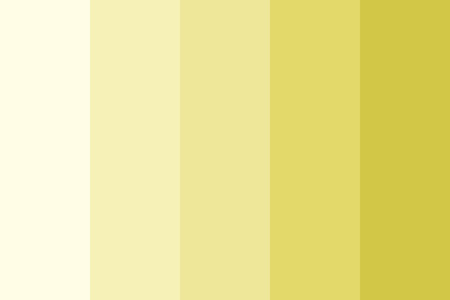 Yellow Ombre Color Palette