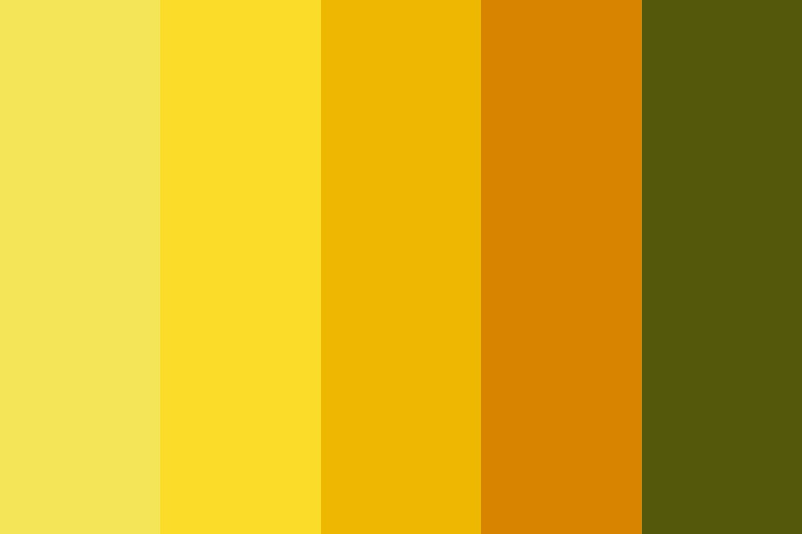 Yellow Rose Color Palette