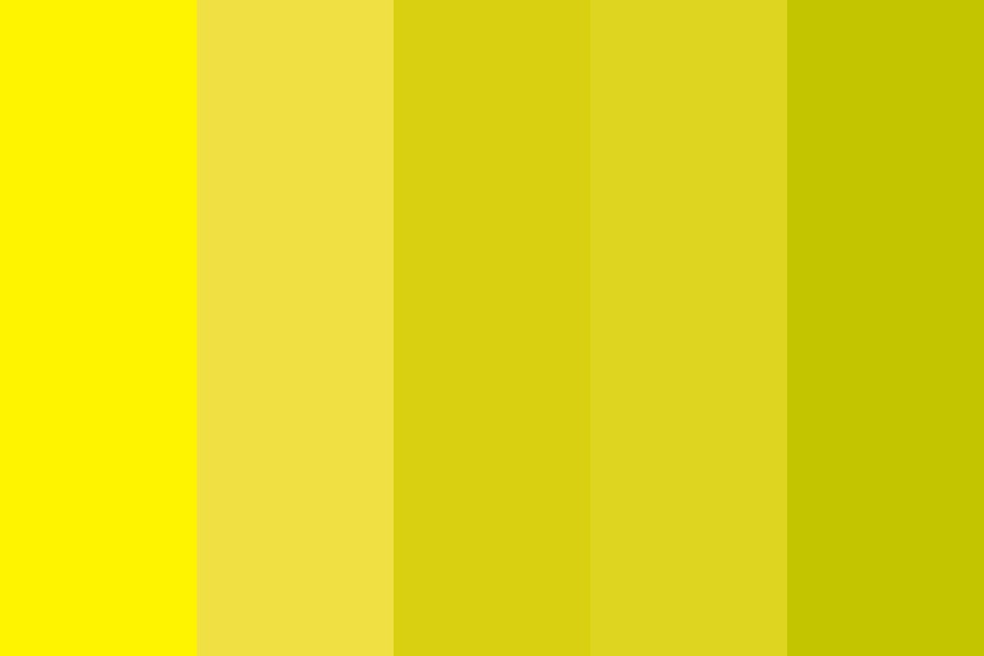 Yellow Shades Color Palette
