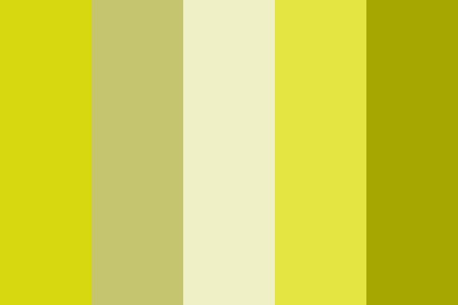 Yellow The Pinup Color Palette
