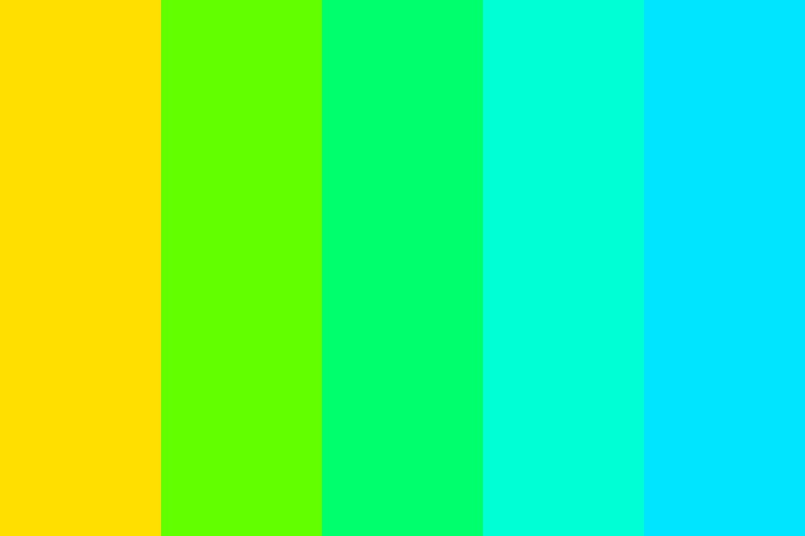 Yellow To Blue Color Palette