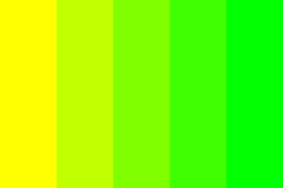 Yellow To Lime Color Palette