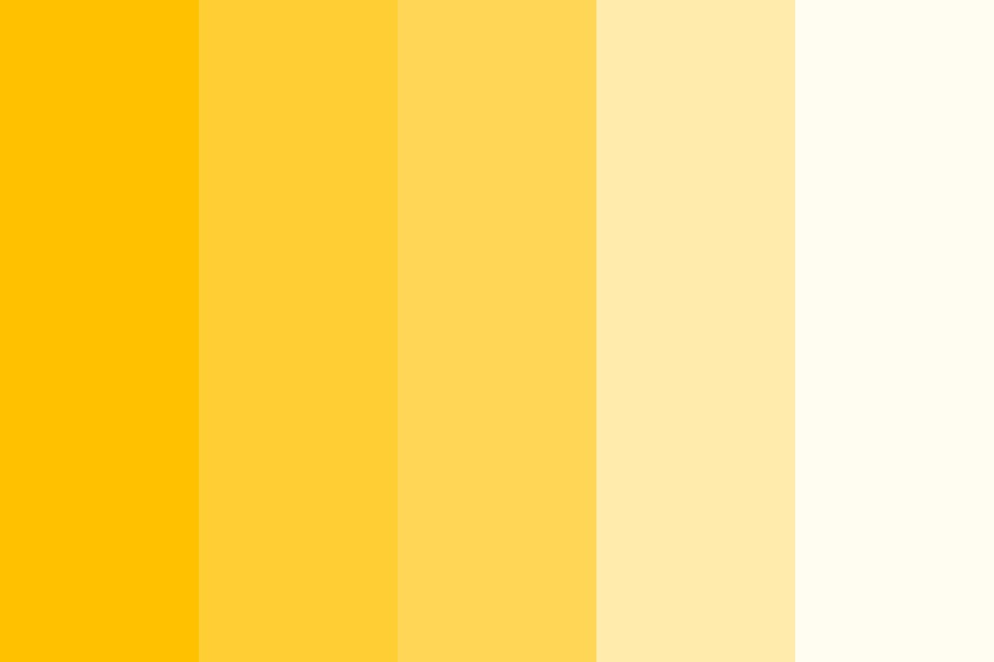 Yellow To White Color Palette