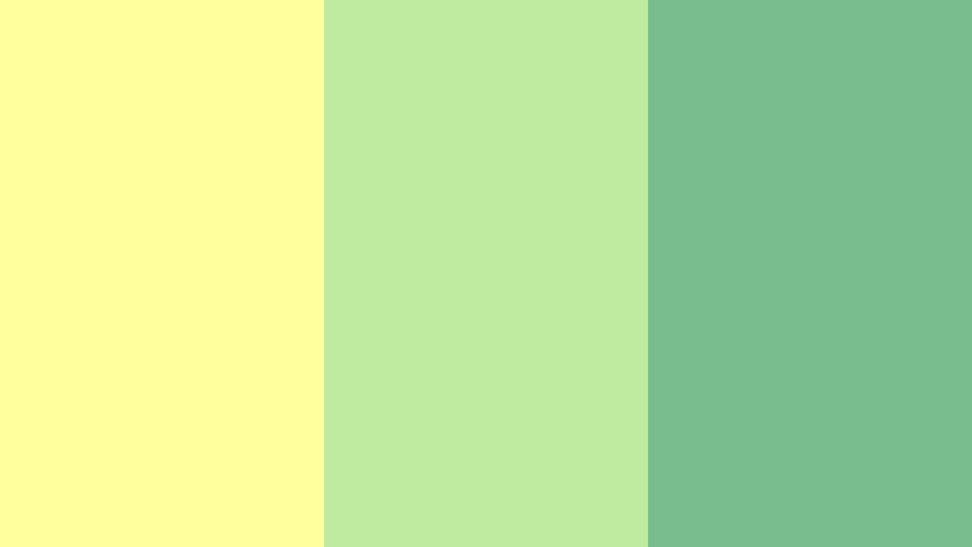 Yellow With Greens Color Palette
