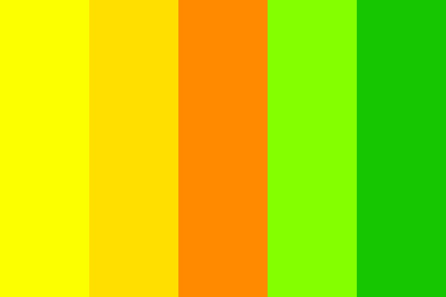 Yellow green Rosetta Color Palette