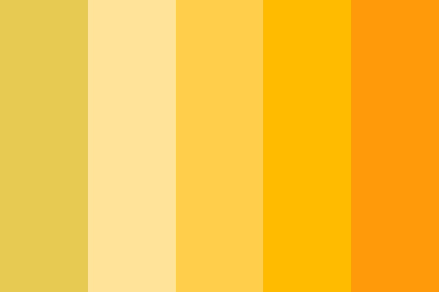 Yellow orange Color Palette