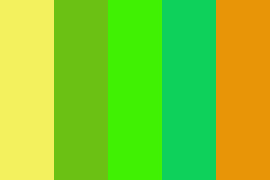Yellowandgreenbackground Color Palette