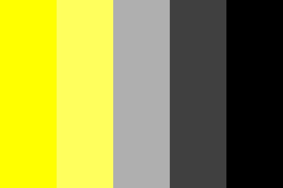 Yellows And Greys Color Palette