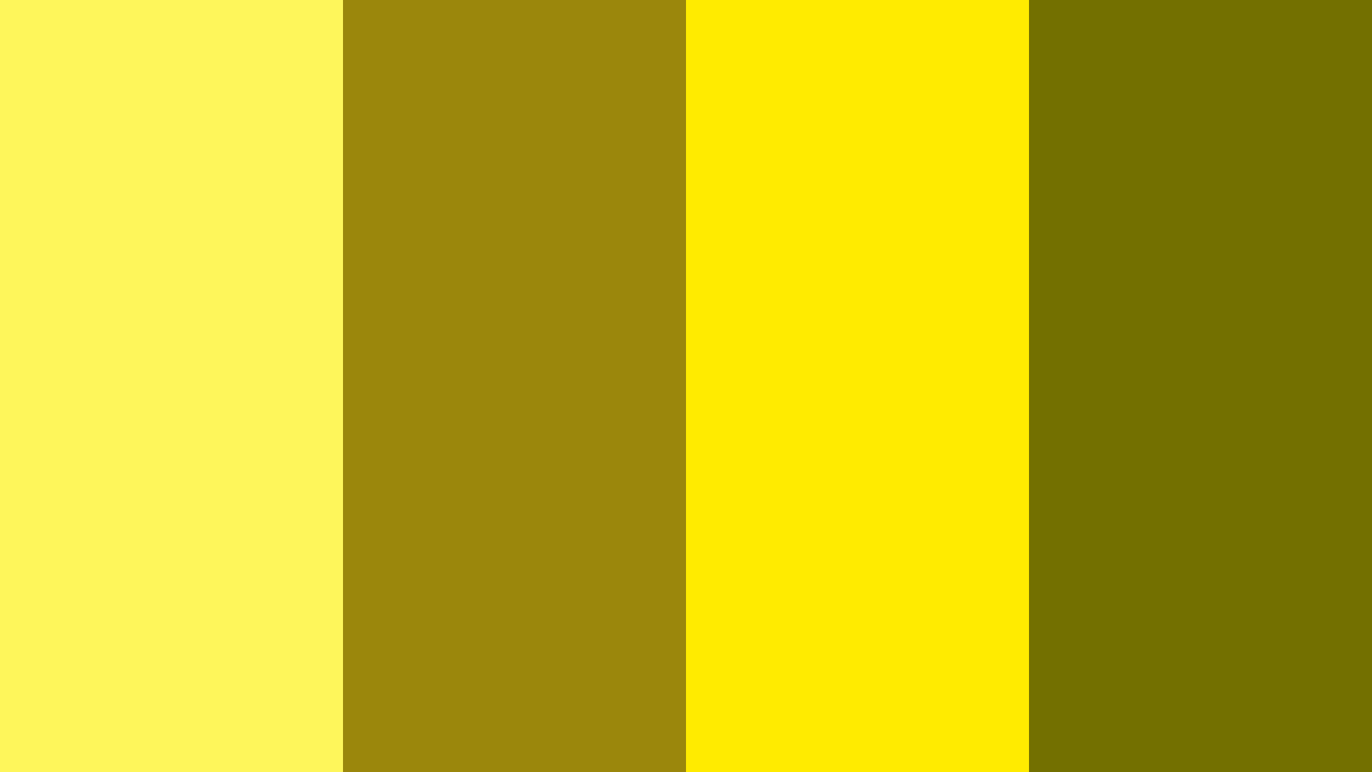 Yo Yo Yellow Color Palette