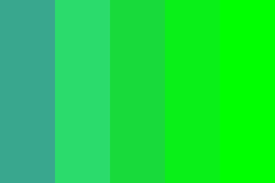 Zomp Alien Green Color Palette